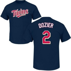 Brian Dozier Minnesota Twins Youth Navy Roster Name & Number T-Shirt -