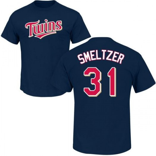 Devin Smeltzer Minnesota Twins Men's Navy Roster Name & Number T-Shirt -