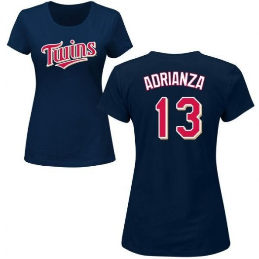 Ehire Adrianza Minnesota Twins Women's Navy Roster Name & Number T-Shirt -