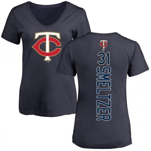 Devin Smeltzer Minnesota Twins Women's Navy Backer Slim Fit T-Shirt -