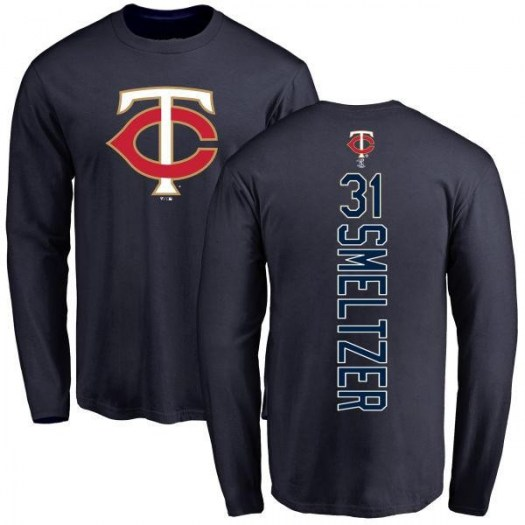 Devin Smeltzer Minnesota Twins Men's Navy Backer Long Sleeve T-Shirt -