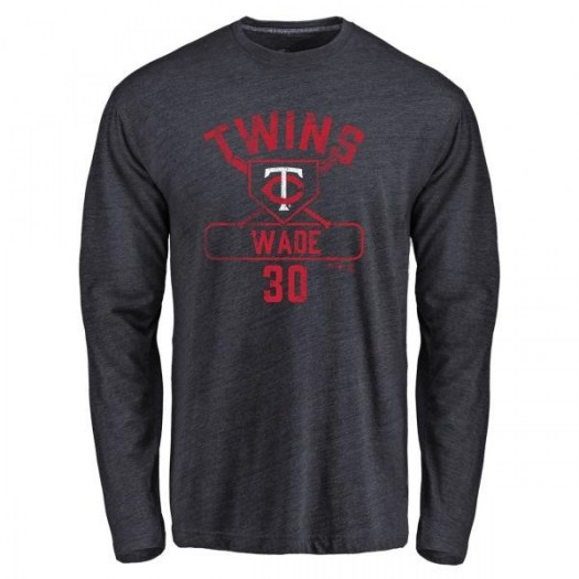 LaMonte Wade Minnesota Twins Youth Navy Base Runner Tri-Blend Long Sleeve T-Shirt -